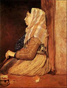 Degas - the beggar woman