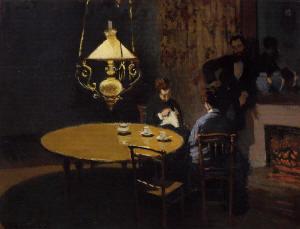 Monet - an interior after dinner