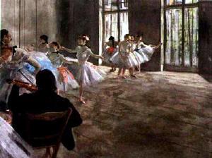 Degas - Lesson in the foyer
