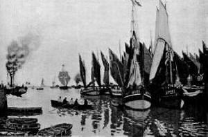 Monet - the harbour, honfleur
