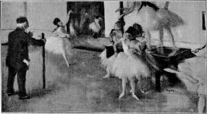 Degas - the dancing lesson (pastel)