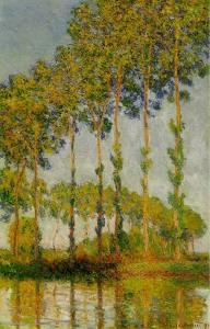 Monet - poplars on the Epte in Autumn