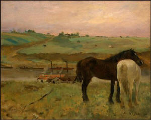 Degas - horses in the meadows
